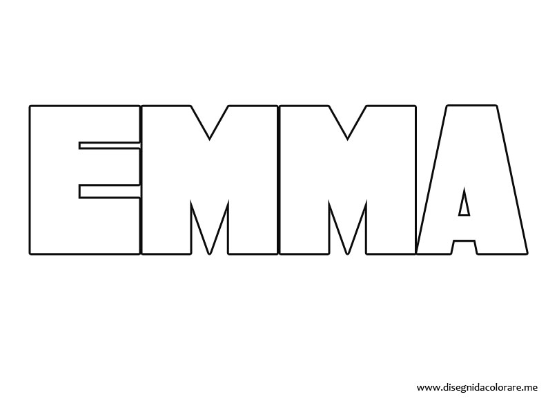 Free Coloring Pages Of The Name Emma